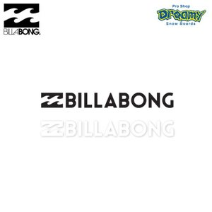 BILLABONG W120mm ステッカー STICKERS カッティング B00S10 BLK WHT ロゴ SPRING/SUMMER 2019モデル 正規品|dreamy1117