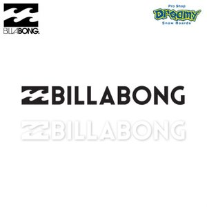 BILLABONG W220mm ステッカー STICKERS カッティング B00S11 BLK WHT ロゴ SPRING/SUMMER 2019モデル 正規品|dreamy1117