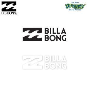BILLABONG W120mm ステッカー STICKERS カッティング B00S13 BLK WHT ロゴ SPRING/SUMMER 2019モデル 正規品|dreamy1117