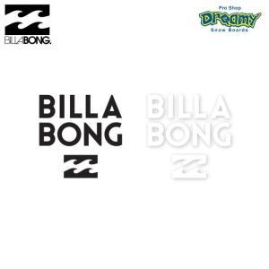 BILLABONG W100mm ステッカー STICKERS カッティング B00S15 BLK WHT ロゴ SPRING/SUMMER 2019モデル 正規品|dreamy1117