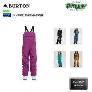 BURTON バートン Kids' Skylar Bib Pant 171501 キッズ スノー ビブパンツ  Room-To-Grow DRYRIDE 撥水加工 Thermacore シームテープ加工 2019-2020 正規品|dreamy1117