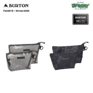 BURTON バートン Utility Pouch Set 173061 ポーチ 2個セット 4L 2L ジップクロージャー Dリング 文房具 トラベルグッズ 収納 bluesign 2019-2020 正規品|dreamy1117