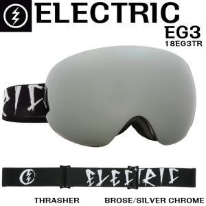 ELECTRIC 17-18 EG3 THRASHER 18EG3TR エレクトリック イージー3 ゴーグル Goggle BROSE/SILVER CHROME BROSEレンズ 正規品 dreamy1117