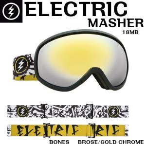 ELECTRIC 17-18 MASHER BONES 18MB エレクトリック マッシャー ゴーグル Goggle BROSE/GOLD CHROME BROSEレンズ 正規品 dreamy1117