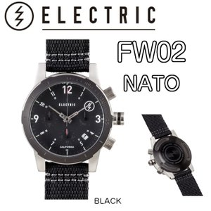 ELECTRIC エレクトリック FW02 NATO 時計 ウォッチ BLACK 正規|dreamy1117