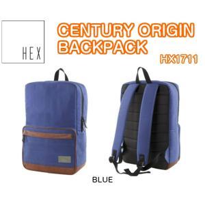 HEX ヘックス CENTURY ORIGIN BACKPACK BLUE HX1711 バックパック APPLE iPad マックブック 収納可能 リュック 2016モデル 正規品|dreamy1117