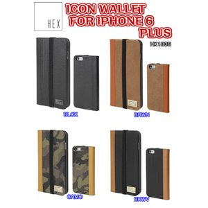 HEX(ヘックス)ICON WALLET FOR IPHONE 6 PLUS アイフォン6プラス ケース カバー HX1835 レザー ハードケース|dreamy1117