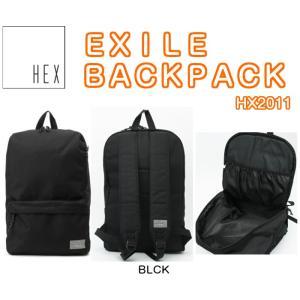 HEX ヘックス  EXILE BACKPACK BLCK GYSL BLNV KHOV GYHB HX2011 バックパック ラップトップ 収納可能 リュック 2016モデル 正規品|dreamy1117