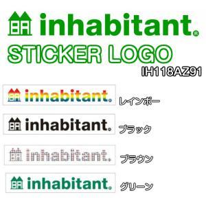 INHABITANT インハビタント STICKER LOGO IH118AZ91 ステッカー 2016モデル 正規品|dreamy1117