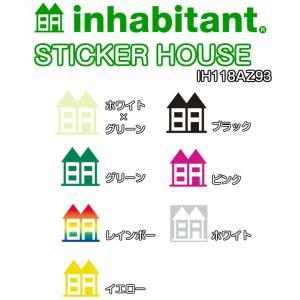 INHABITANT インハビタント STICKER HOUSE IH118AZ93 ステッカー 2016モデル 正規品|dreamy1117