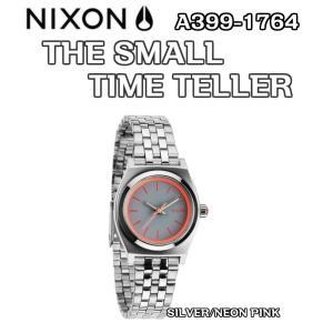 NIXON ニクソン THE SMALL TIME TELLER スモールタイムテーラー A399-1764 SILVER/NEON PINK 腕時計 正規品 ウォッチ|dreamy1117