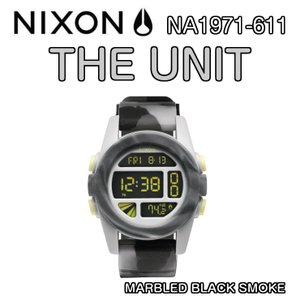 NIXON ニクソン THE UNIT ユニット MARBLED BLACK SMOKE NA1971-611 デジタルウォッチ 腕時計 ウォッチ 正規品|dreamy1117