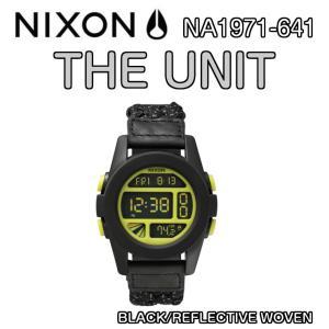NIXON ニクソン THE UNIT ユニット BLACK/REFLECTIVE WOVEN NA1971-641 デジタルウォッチ 腕時計 ウォッチ 正規品|dreamy1117