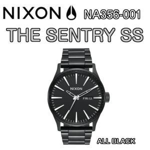 NIXON ニクソン THE SENTRY SS セントリー ALL BLACK NA356-001 ステンレスバンド 腕時計 ウォッチ 正規品|dreamy1117
