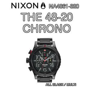 NIXON ニクソン THE 48-20 CHRONO ALL BLACK / MULTI NA4861-320 クロノグラフ 腕時計 ウォッチ 正規品|dreamy1117