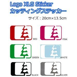 NORTH WEST RIDERS(ノースウエストライダース) カッティングステッカー LOGO XLG Sticker ロゴステッカー 20cm×13.5cm|dreamy1117