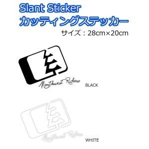 NORTH WEST RIDERS(ノースウエストライダース) カッティングステッカー Slant Sticker ロゴステッカー 28cm×20cm|dreamy1117