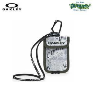 OAKLEY オークリー Essential Card Case 3.0 FW 921643JP-186 パスケース White Print カラビナ ラインヤード 背面ポケット  ロゴ コインケース 2019秋冬 正規品|dreamy1117