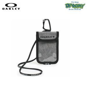 OAKLEY オークリー Essential Card Case 3.0 FW 921643JP-22K パスケース Light Heather Gray カラビナ ラインヤード 背面ポケット ロゴ 2019秋冬 正規品|dreamy1117