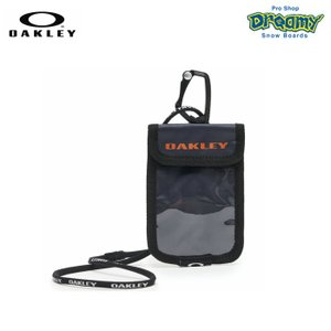 OAKLEY オークリー Essential Card Case 3.0 FW 921643JP-86D パスケース Strong Violet カラビナ ラインヤード 背面ポケット ロゴ コインケース 2019秋冬正規品|dreamy1117