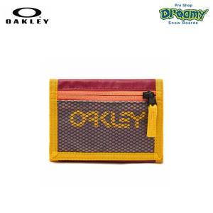 OAKLEY オークリー 90'S Wallet 95154-4ST Sundried Tomato ウォレット カード入れ 小銭入れ YKKジップポケット ベルクロクロージャー ロゴ 財布 正規品|dreamy1117