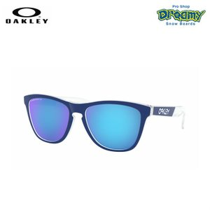 OAKLEY オークリー Frogskins Crystalline Collection 偏光 アジアンフィット Polished Clear Prizm Sapphire Polarized フロッグスキン OO9245-8454 正規品|dreamy1117