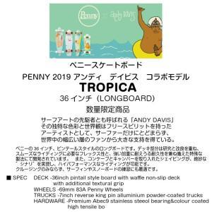 Penny ペニースケートボード TROPICA 2LPG1 数量限定 36インチ ピンテール ロングボード 特殊プラスティック アンディ・デイビス コラボ 2019fwモデル 正規品|dreamy1117|02