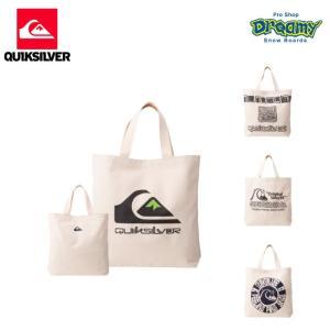 QUIKSILVER クイックシルバー CANVAS TOTE BAG QBG194306 キャンバス トートバッグ 内ポケット ビッグロゴ エコバッグ 2019 FALL&WINTERモデル 正規品|dreamy1117
