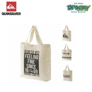 QUIKSILVER クイックシルバー キャンバス トートバッグ (43x47x9cm) CANVAS TOTE BAG 内ポケット ロゴ SPRING 2019モデル 正規品|dreamy1117