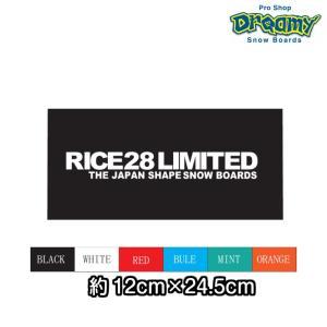 RICE28 ライス カッティングステッカー C-TYPE 12×24.5cm CUTTING STIKERS スノーボード RICE28|dreamy1117