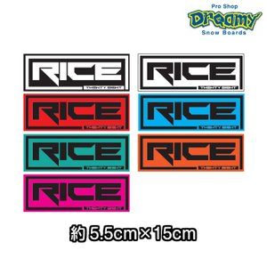RICE28 ライス ステッカー F-TYPE 4.5×23cm CUTTING STIKERS スノーボード RICE28|dreamy1117