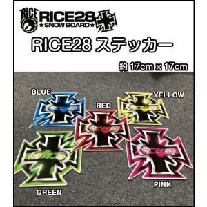 RICE28 ライス ステッカー 17cm×17cm スノーボード 正規品|dreamy1117