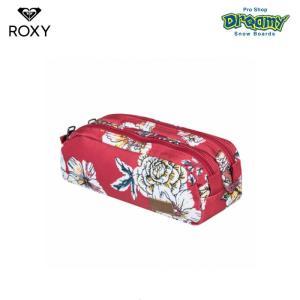 ROXY ロキシー DA ROCK 3 ERJAA03649 ペンケース 2層式 ロゴ パッチ 自立 大容量 ジップクロージャー XRWG 2019 FALL&WINTERモデル 正規品|dreamy1117