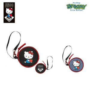 ROXY× HELLO KITTY  ロキシー ハローキティ コラボHELLO KITTY COIN CASE ROA194333 コインケース ストラップ ポーチ ロゴ 2019 FALL&WINTERモデル 正規品|dreamy1117