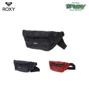 ROXY THE OTHER SIDE ウェストバッグ RBG191304 光沢感 ダイヤ柄 ボディバッグ コンパクトサイズ フロントポケット ロゴ 2019 Springモデル 正規品|dreamy1117