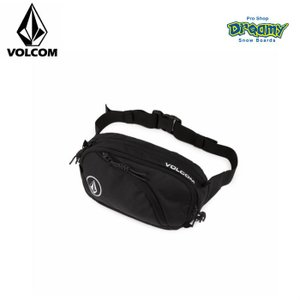 VOLCOM ボルコム メンズ ウエストポーチ Waisted Fanny Pack ヒップバッグ  2コンパートメント ロゴ D6511650 BLK 2019 SPRING モデル 正規品|dreamy1117
