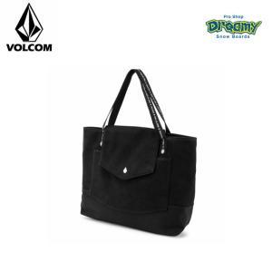VOLCOM ボルコム レディース トートバッグ Strap Bag 開口部スナップボタン ストラップ部  ロゴ E6411954 BLK 2019 SPRING モデル 正規品|dreamy1117