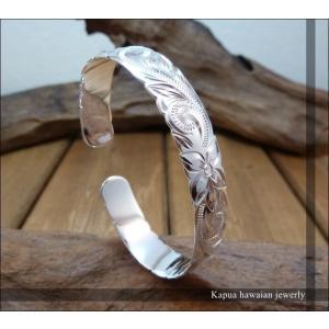送料無料 【kapua ハワイアンジュエリー 】hb-014 12mm幅 カットアウトバングル メンズ レディース silver925 シルバー925|dredline
