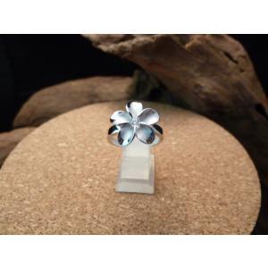 カプアハワイアンジュエリー ブランド hr01 プルメリアCZロジウムリング レディース 指輪 シルバーリング ジルコニア|dredline