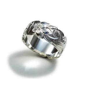 カプアハワイアンジュエリー ブランド hr04 8mmカットアウトリング レディース 指輪 シルバーリング|dredline