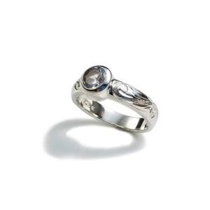 カプアハワイアンジュエリー ブランド hr07 スクロールジルコニアストーンリング レディース 指輪 シルバーリング  dredline