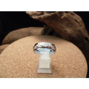 カプアハワイアンジュエリー ブランド hr09 6x4mmピンクゴールドコーティングスクロールリング レディース 指輪 シルバーリング |dredline