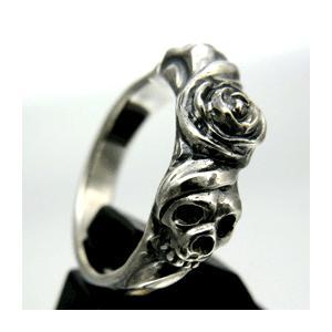 【送料無料】 KAGEMARU DESIGNS カゲマルデザイン lr002 スカルアンドローゼスリング スカルリング silver925|dredline