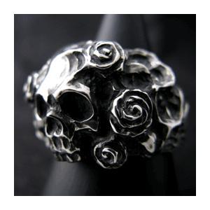 【送料無料】 KAGEMARU DESIGNS カゲマルデザイン lr003 スカルアンドローゼスMリング スカルリング silver925|dredline