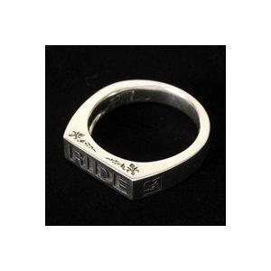 東本昌平RIDEライドオフィシャルシルバーアクセサリーロゴリング silver925|dredline