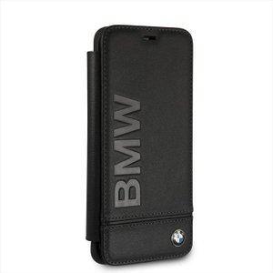 Samusung Galaxy S9 サムスン ギャラクシー S9 用 手帳型 ケース カバー BMW ビーエムダブリュー ロゴ 本革 ブラック エアージェイ BMFLBKS9LLSB|dresma