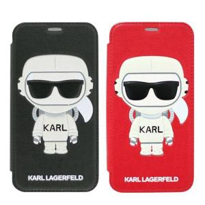 iPhoneXR iPhone XR 対応 ケース カール・ラガーフェルド 公式ライセンス KARL LAGARFELD PUレザー 手帳型ケース 二つ折り 宇宙飛行士 KARLおじさん サングラス dresma
