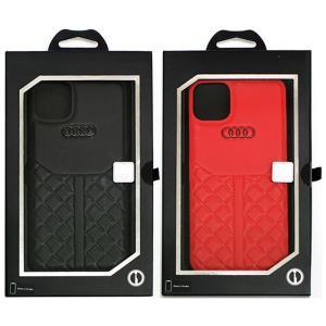 Audi Q8 公式ライセンス iPhone 11 Pro Max レザーケース ハードケース バッ...