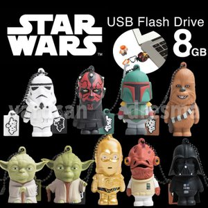 USBメモリ 8GB STARWARS キャラクターUSBメモリ スターウォーズ アメリカン雑貨 映画 グルマンディーズ STW-FD|dresma