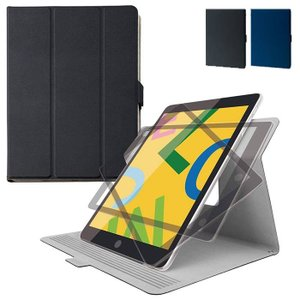 iPad 10.2inch 2019年モデル ケース カバー フラップカバー ソフトレザー 360度...